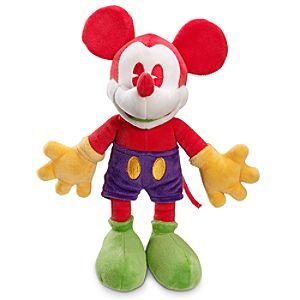 Red and Green Mickey Mouse Plush Toy -- 11 H
