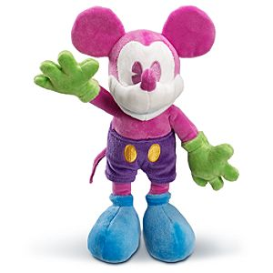 Pink and Blue Mickey Mouse Plush Toy -- 11 H
