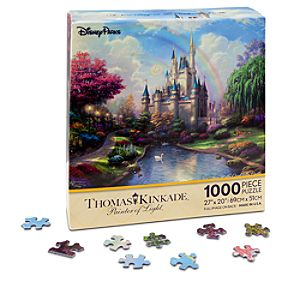 Walt Disney World Cinderella Castle Puzzle by Thomas Kinkade