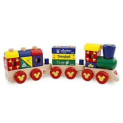 Mickey Mouse Wood Blocks Stacking Train Set