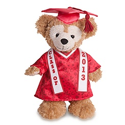 Duffy the Disney Bear 2013 Graduation Plush - 12'' H