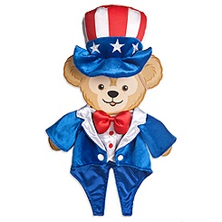 Duffy the Disney Bear 4th of July Costume -- 17'' H