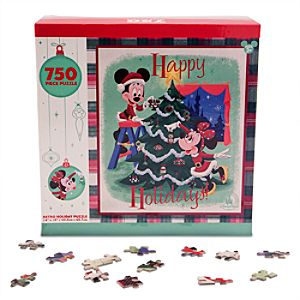 Mickey and Minnie Mouse Retro Holiday Puzzle