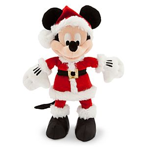 Santa Mickey Mouse Plush - Small - 9''
