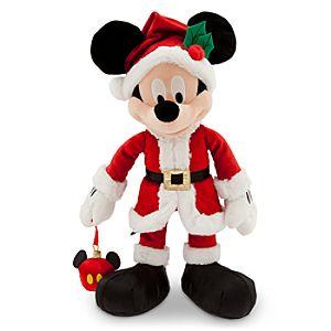Santa Mickey Mouse Plush with Ornament - Medium - 16''