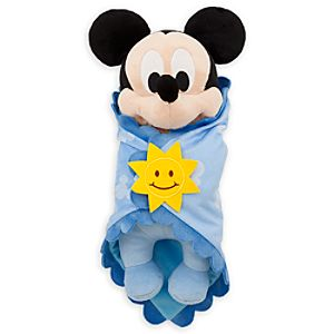 Disney's Babies Mickey Mouse Plush Doll and Blanket - Small - 11''