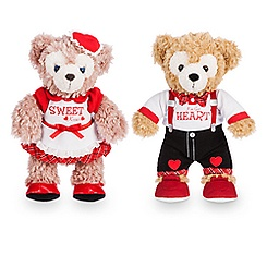 Duffy and ShellieMay the Disney Bears Plush Set - Valentine's Day - Small  - 9''