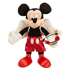 Mickey Mouse Cupid Plush - Valentine's Day - Small - 9''