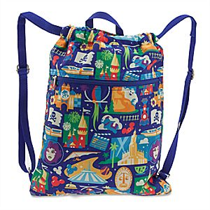 Disney Parks Icons Cinch Backpack