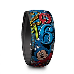Sorcerer Mickey Mouse Disney Parks MagicBand - 2016 - Blue