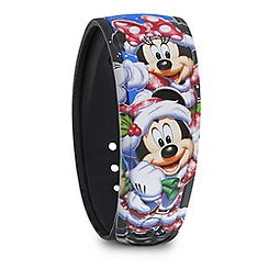 Santa Mickey and Minnie Mouse Holiday MagicBand - Limited Edition