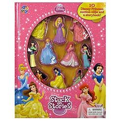 Disney Princess Stuck On Stories Book and Playset