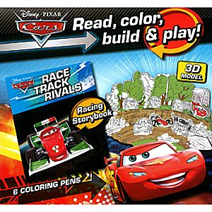 Cars Read, Color, Build and Play Book