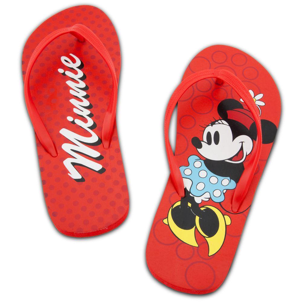 Classic Minnie Mouse Flip Flops for Women