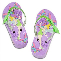 Tinker Bell Platform Flip Flops for Girls