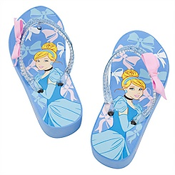 Cinderella Platform Flip Flops for Girls