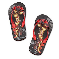 Iron Man 3 Flip Flops for Boys