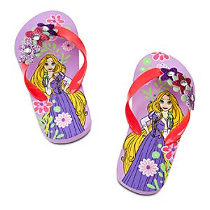 Rapunzel Flip Flops for Girls