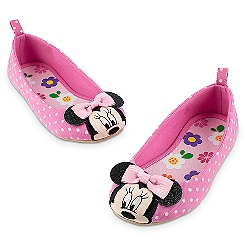 Minnie Mouse Polka Dot Flats For Girls