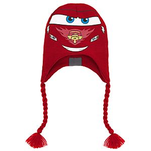 Knit Lightning McQueen Hat for Boys
