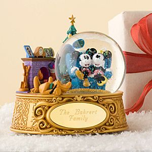 Personalized Home Sweet Home Minnie and Mickey Mouse Snowglobe