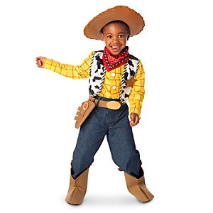 He'll have a posse of admirers when dressed up in his Woody Costume ...