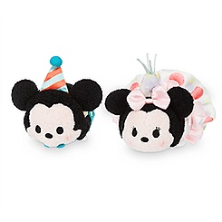 Mickey and Minnie Mouse Birthday ''Tsum Tsum'' Mini Plush Collection